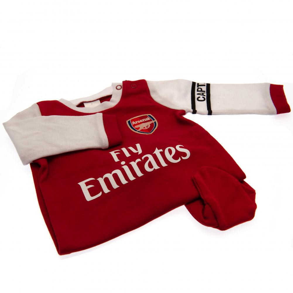 brand new 2be76 7b3eb Arsenal Baby Sleepsuit