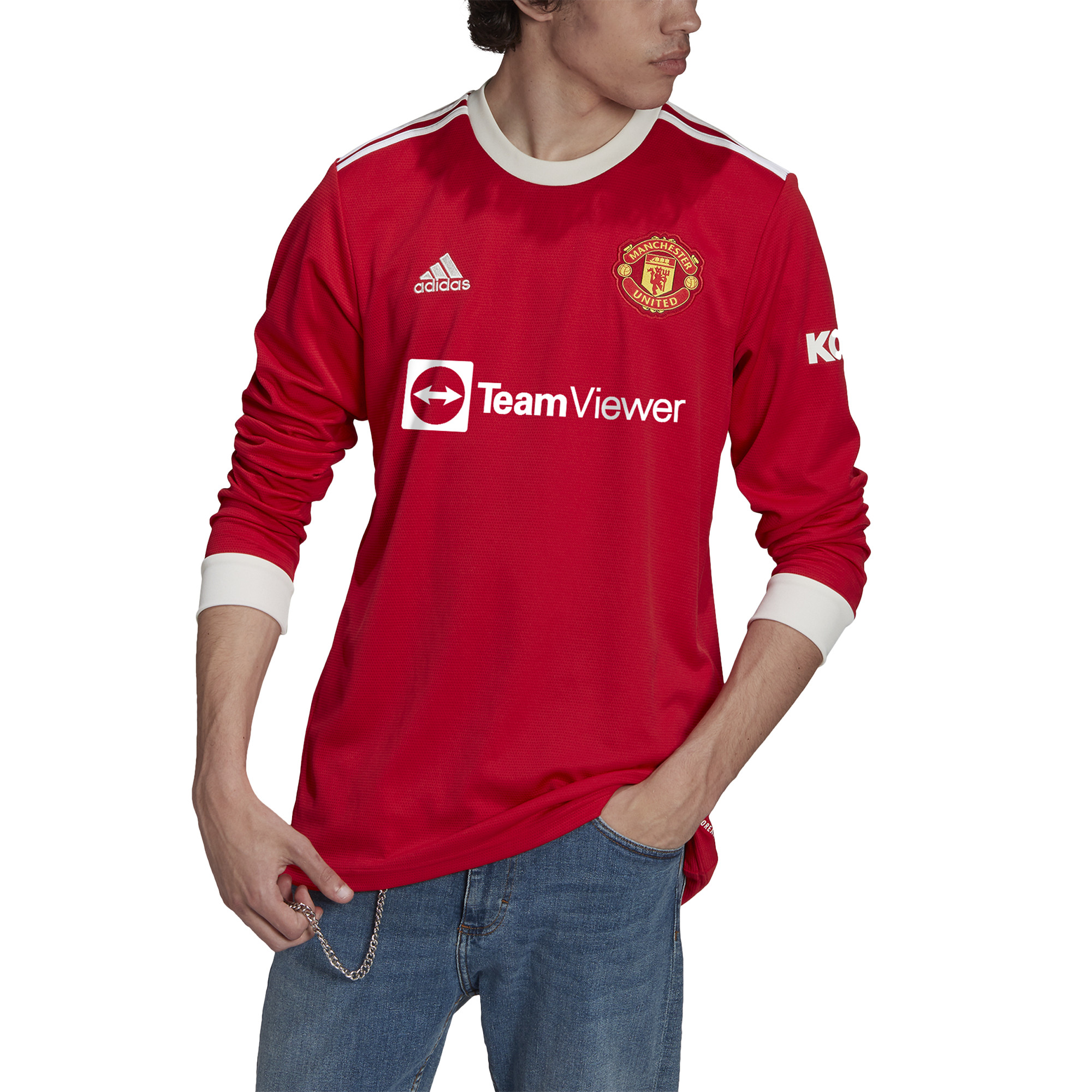 Manchester United Long Sleeve Home Jersey 2021/22 (Adidas)