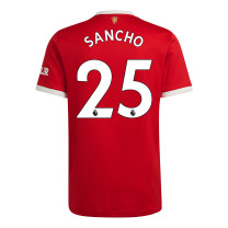 Sancho 25 Manchester United Home Jersey 2021/22 (Adidas)