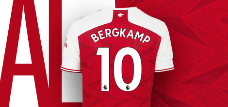 Arsenal home jersey with custom print 2019/20