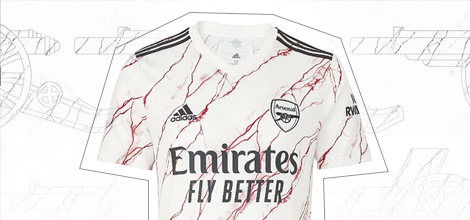 Arsenal away jersey 2020/21