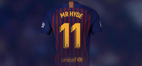 FC Barcelona home jersey with own print 2018/19