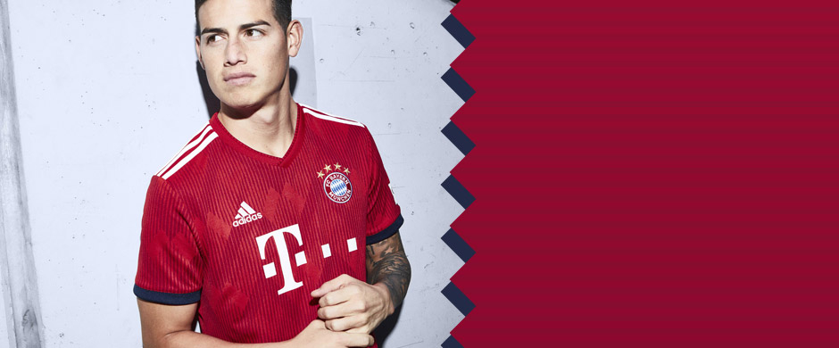 James Rodriguez in new home jersey for the 2018/19 season.