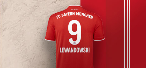 Lewandowski 9 Bayern Munich Home Jersey 2020/21