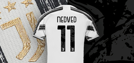 Juventus home jersey with own print 2020/21