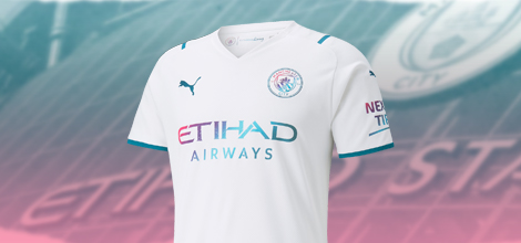 Manchester City away jersey with your name 2021/22