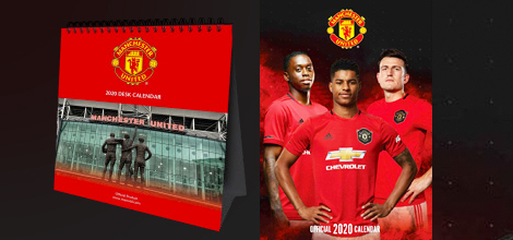 Manchester United 2020 calendars