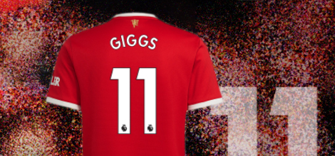 Manchester United home jersey with custom print 2021/22