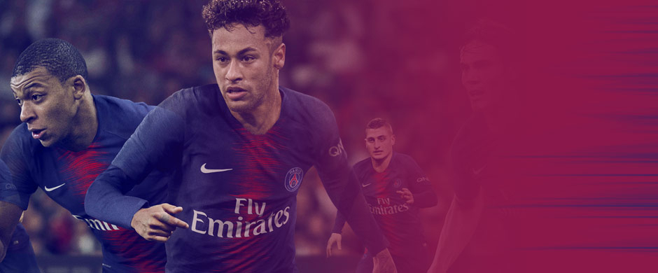 Neymar Jr., Kylian Mbappe and other players in new Paris Saint-Germain home jersey for the 2018/19 season