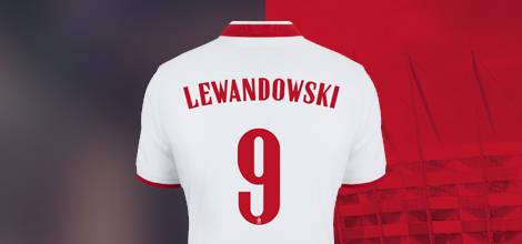 Poland home jersey with Lewandowski print 2020