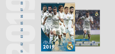 Real Madrid 2019 Calendar