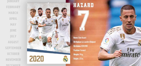 Real Madrid 2020 calendars