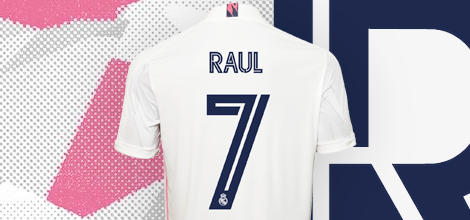 Real Madrid home jersey with your name 2020/21