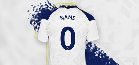 Tottenham 2020/21 Home Jersey With Your Name