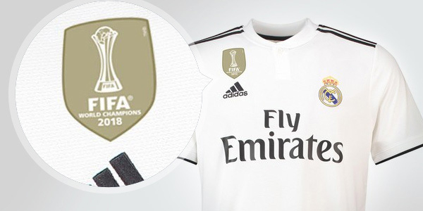 Real Madrid home jersey 2018/19 with FIFA World Champions 2018 badge